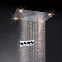 Cascada Classic Design 31 Inch (600mmx800mm) Large Rain Shower Set with Waterfal - $1,960.15
