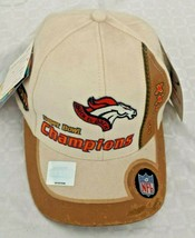 NWT ~ NEW~ NFL DENVER BRONCOS 1999 Champions HAT ~ Velcro One Size SUPER... - $19.79