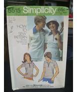Simplicity 5515 Misses or Men's Zip Front Shirt Pattern - Size 18 Bust 40 - $11.87