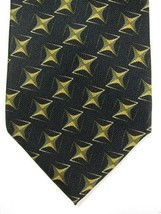 NEW Jhane Barnes Original Fabric Made in Japan Black With Gold Stars Tie - $29.99