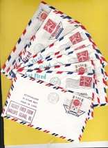 ROCKET LAUNCH COVERS LOT OF 12 COVERS EARLY 1960's  - $12.18