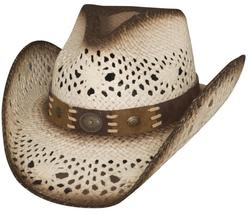Bullhide Pure Country Toyo Straw Western Vented Dusted White Pink Brown Black - $68.00