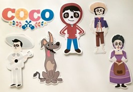 "Set Of 6 Coco Cut Outs 10""h scrapbook Disney Coco Party decorations - $19.80"