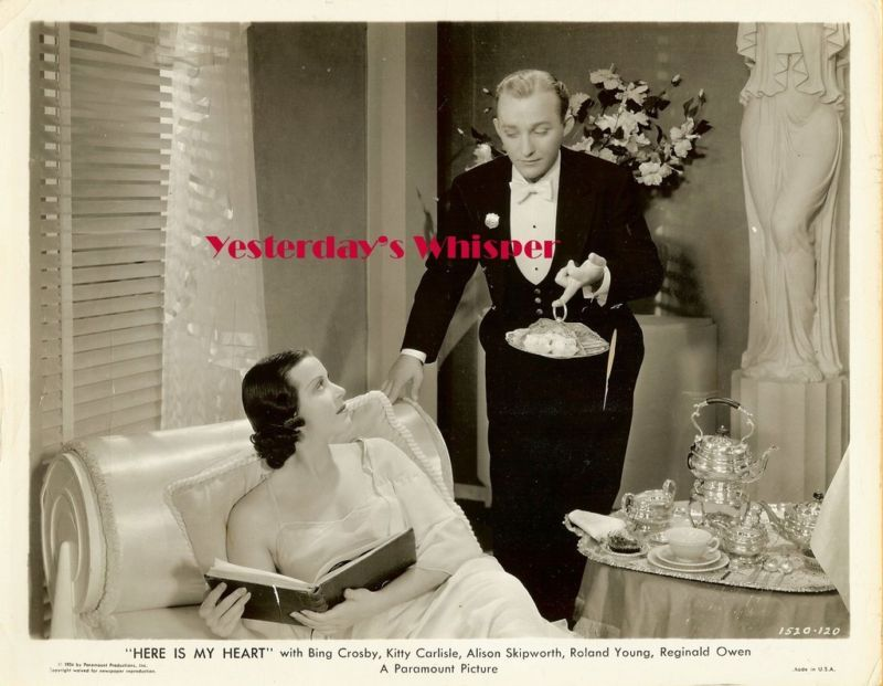 1930s Bing Crosby Kitty Carlisle Vintage Movie Photo