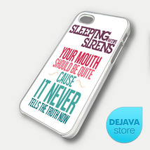 Sleeping With Sirens Quote iPhone 5 Case - $14.95