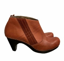 Anthropologie Schuler & Sons Philadelphia Clog Style Ankle Boots 8.5 Cider Press - $53.35