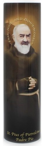 Padre pio   led flameless devotion prayer candle