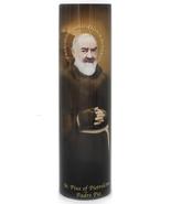 PADRE PIO - LED Flameless Devotion Prayer Candle - $19.95