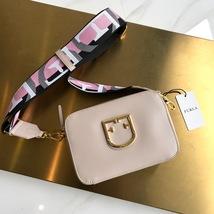FURLA BRAVA Mini Crossbody Messenger Bag Beige Authentic  - $265.00