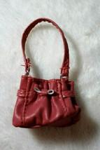 Bratz Barbie Doll Mauve Pink Faux Leather Bow Purse Also Fits Barbie & F... - $14.84