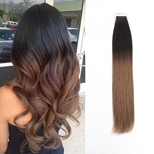 Sassina Real Remi Tape in Human Hair Extensions Seamless Straight Glue on Skin W