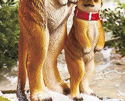Holiday  Toscano Meerkats Statue
