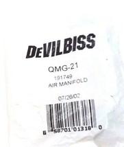 NEW DEVILBISS QMG-21 AIR MANIFOLD AMG21, 191749 image 1