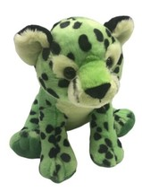 "Aurora Leopard Cub Plush Light Green Black Dots 11"" Stuffed Animal Rare - $14.84"