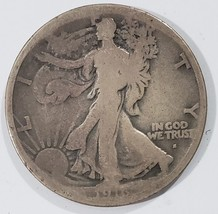 1916S Walking Liberty Half Dollar 90% Silver Coin Lot# MZ 4854