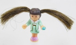 1995 Vintage Polly Pocket Doll Comb 'n Curl Salon - Rebecca Bluebird Toys - $7.00