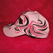 Western Womens Cross Pink & Brown Embroidered Baseball Cap image 2
