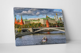 """Moscow Kremlin Skyline Gallery Wrapped Canvas Wall Art 30""""x20"""" or 20""""x16"""" - $44.50+"""
