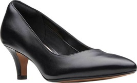 Clarks Linvale Jerica Pump (Women's) in Black Full Grain Leather - NEW - $83.69