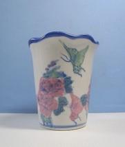 Jingdezhen retired porcelain flower bonsai pot butterflies motif glazed ... - $28.54