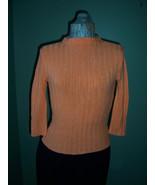 Orange Stretch Knit Turtleneck - $16.89
