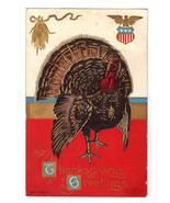 Vintage Thanksgiving Postcard Patriotic Turkey Ser.T.P.609 - $12.95