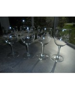 """4 Princess House Heritage Pattern Clear Wine Glasses 6 7/8"""" Tall  - $29.70"""