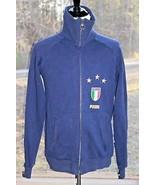 Puma Italia Medium Men's Navy Blue Athletic Full Zip Thick Warm Jacket F... - $23.74