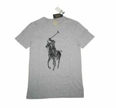 New POLO Ralph Lauren Custom Slim Fit T-Shirt HUGE BIG PONY Logo Size Me... - $37.95