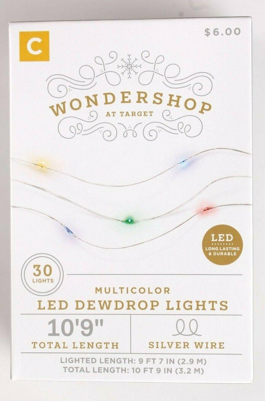 Wondershop 30 ct Battery powered Multicolored Dew Drop Christmas Lights