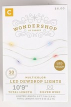 Wondershop 30 ct Battery powered Multicolored Dew Drop Christmas Lights