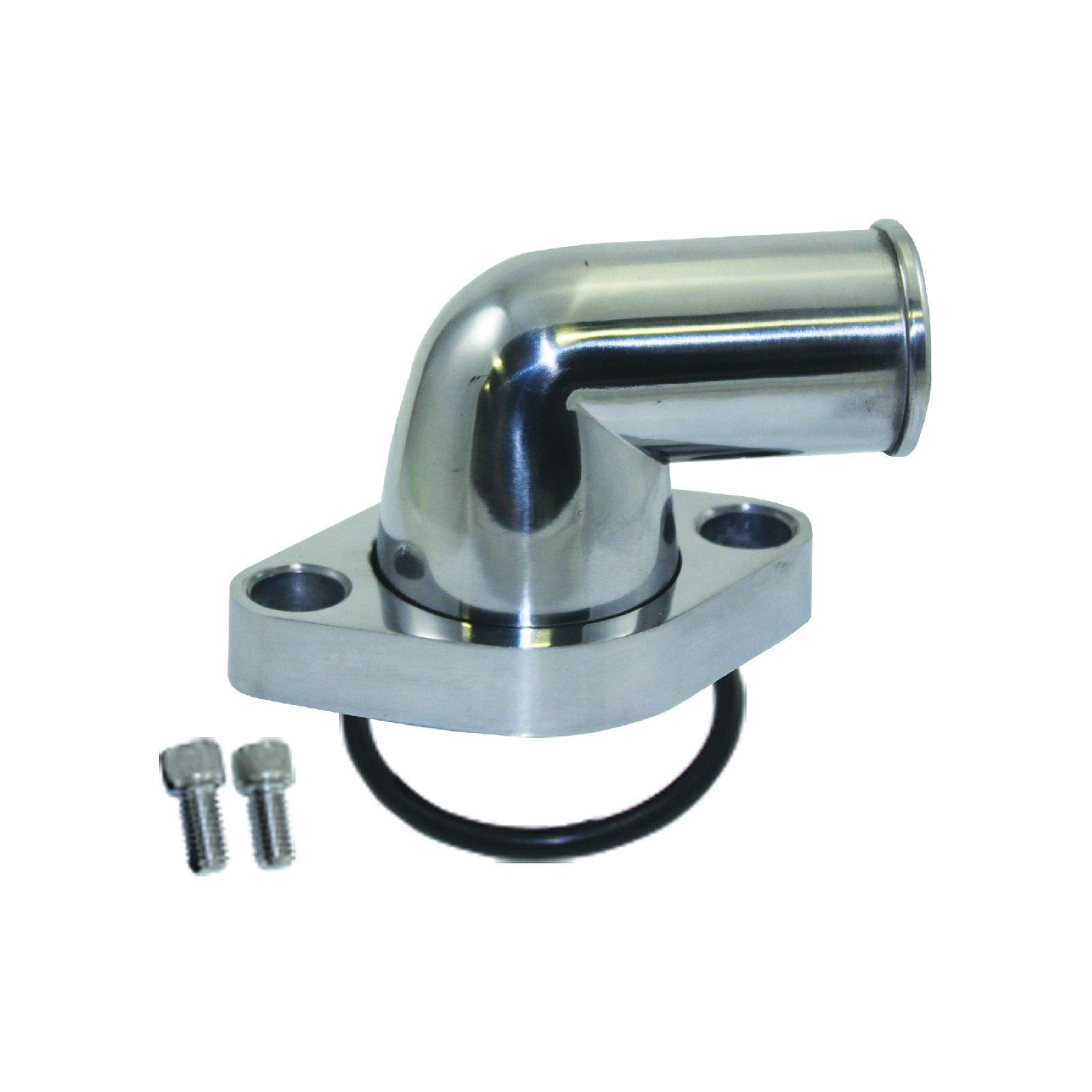 A-Team Performance 90° Swivel Polished Water Neck Thermostat Housing Compatible