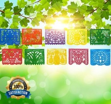 IREKUA Mexican Decorations Papel Picado Banner -Colorful Tissue Paper Co... - $227,95 MXN