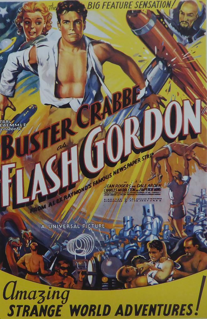 Primary image for Flash Gordon (3) - Buster Crabbe - Movie Poster Framed Picture - 11 x 14