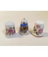 Thimbles Jaeger Pickard Minton Bone China Porcelain Floral Gold Trim Lot... - $28.00