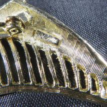 "Vintage Fashion Jewelry Lady Leaf Coro Brooch Retro Gold Color 2""3/4 image 8"