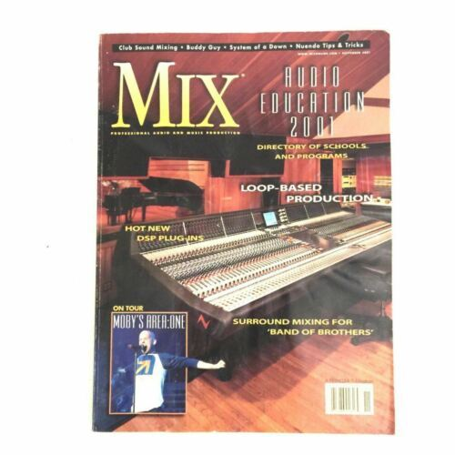 Mix Magazine Pro Audio Music Club Sound Mixing System of a Down Moby Nov 2001