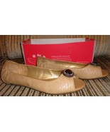 new lindsay phillips kate peep toe flat tan python size 10 M - $5.00