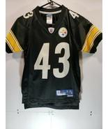 Kids Reebok Pittsburgh Steelers Polamalu Jersey, Youth Sz8, black, boys/... - $24.30