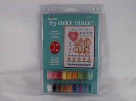 Bucilla My Quick Stitch Counted Cross Stitch Kit - Love - $10.44
