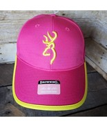 Browning Pink / Yellow Women's Hunting Hat / Strapback Chill Cap - NEW! NWT - $19.34