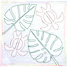 Sashiko World Hawaii Stamped Embroidery Kit-Honu (turtle) - $25.29