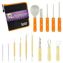 Halloween Haunters Ultimate 14 Piece Professional Pumpkin Carving Tool K... - £18.80 GBP