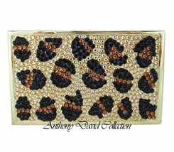Anthony David Leopard Crystal Business Card Case with Swarovski Crystals - $21.77