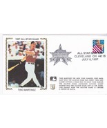 1997 ALL STAR GAME TINO MARTINEZ CLEVELAND OHIO JULY 8 1997 Z SILK - £1.55 GBP