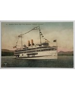 Old VTG Hand-Colored Postcard Hudson River Day Line Steamer DeWitt Clint... - $19.55