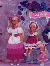 Easter Parade Dresses fit Barbie Sisters Crochet Pattern Leaflet NEW - $2.49