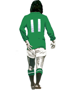 Northern Ireland George Best shaped vinyl wall sticker football 500mm he... - $15.06