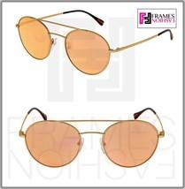 PRADA 51S Linea Rossa Spectrum Round Sunglasses Gold Rose Peach Mirrored PS51SS - $191.57