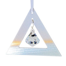 Aluminum and Crystal Triangle Ornament - Bell image 1